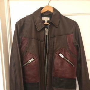 Coach men 100% leather jacket